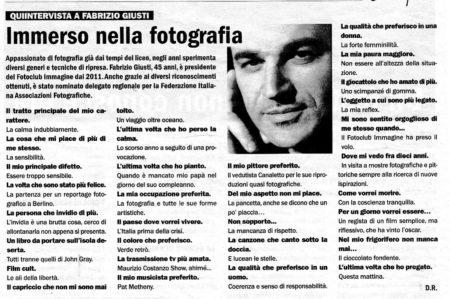Quintervista a Fabrizio Giusti