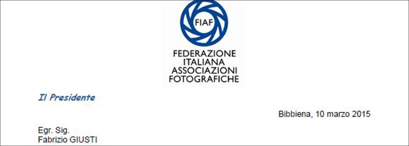 Conferimento Onorificenza BFI Benemerito della Fotografia Italiana