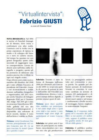 """""""Virtualintervista"""" a Fabrizio Giusti"""
